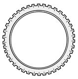 Vector silhouette cogwheel Royalty Free Stock Photo