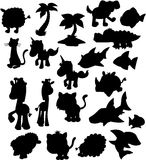 Vector Silhouette Collection Royalty Free Stock Photo