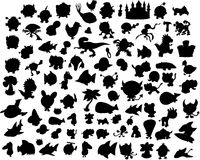Vector Silhouette Collection Stock Image