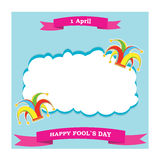 Vector silhouette colorful clowns hat and ribbon Royalty Free Stock Photos