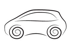 Vector silhouette of conceptual car Stock Photos