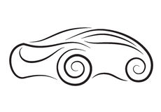 Vector silhouette of conceptual car Royalty Free Stock Photo