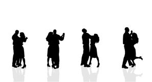 Vector silhouette of couple. Stock Image