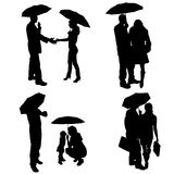 Vector silhouette of couple. Royalty Free Stock Images