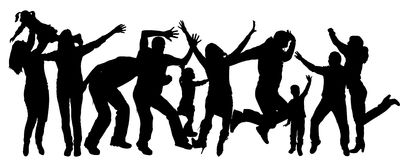 Vector silhouette dance. Royalty Free Stock Image