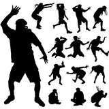 Vector silhouette of dance. Stock Photography