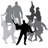 Vector silhouette of dance. Royalty Free Stock Image