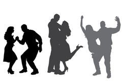Vector silhouette of dance. Stock Photo