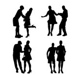 Vector silhouette of dance. Royalty Free Stock Photos
