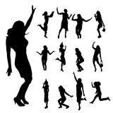 Vector silhouette of dance. Stock Image
