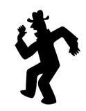 Vector silhouette dancing men Royalty Free Stock Photos