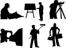 Vector silhouette of a different profession Stock Photo