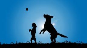 Vector silhouette of a dog. Stock Photos