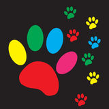 Vector silhouette dog paw. Royalty Free Stock Photography