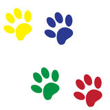 Vector silhouette dog paw. Stock Images