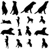 Vector silhouette of a dog. Royalty Free Stock Images