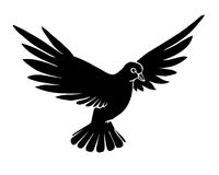 Vector silhouette dove Royalty Free Stock Photo