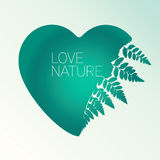 Vector Silhouette Of An Emerald Heart Stock Photo