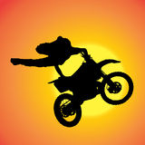 Vector silhouette of extreme jumps. Stock Image