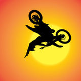 Vector silhouette of extreme jumps. Stock Images