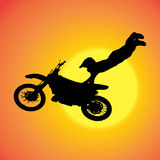 Vector silhouette of extreme jumps. Stock Photography