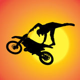 Vector silhouette of extreme jumps. Royalty Free Stock Photo