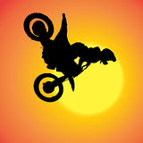 Vector silhouette of extreme jumps. Stock Photo