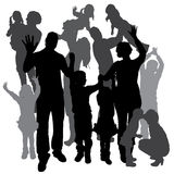 Vector silhouette of a family. Stock Images
