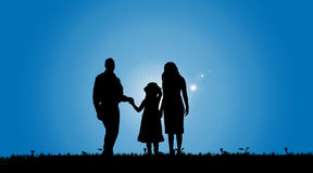 Vector silhouette of a family. Royalty Free Stock Photo