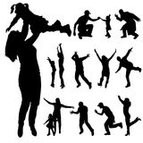 Vector silhouette of family. Royalty Free Stock Images