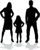 Vector silhouette of family. Royalty Free Stock Photos