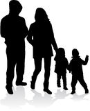 Vector silhouette of family. Stock Photography