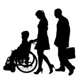 Vector silhouette of a family. Royalty Free Stock Image