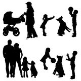 Vector silhouette of family. Stock Image