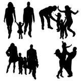 Vector silhouette of family. Stock Photos