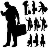 Vector silhouette of a fat man. Stock Photos