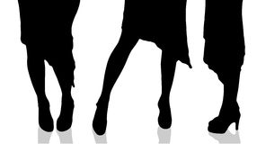 Vector silhouette of female feet. Royalty Free Stock Photography