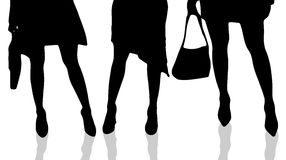 Vector silhouette of female feet. Stock Photography