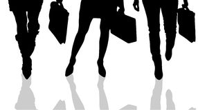 Vector silhouette of female feet. Stock Image