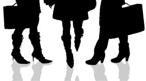 Vector silhouette of female feet. Royalty Free Stock Images