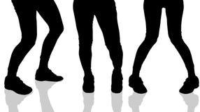 Vector silhouette of female feet. Stock Photos