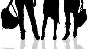 Vector silhouette of female feet. Stock Photo