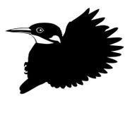 Vector silhouette flying birds Stock Image