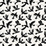 Vector silhouette flying birds seamless pattern Royalty Free Stock Photography