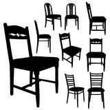 Vector silhouette of furniture. Stock Photography