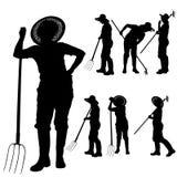 Vector silhouette of a gardener. Stock Photography