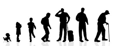 Vector silhouette generation men. Royalty Free Stock Images