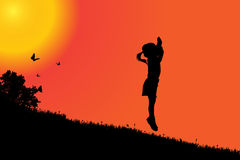 Vector silhouette of a girl. Stock Photo