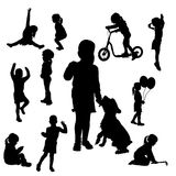 Vector silhouette of girl. Stock Photo