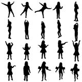 Vector silhouette of girl. Stock Photography
